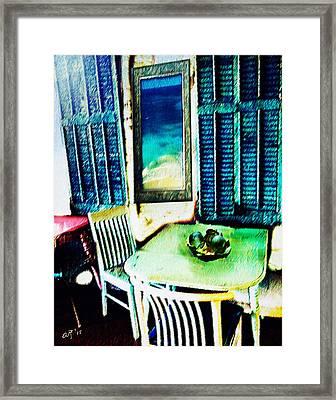 Seaside Cafe Framed Print