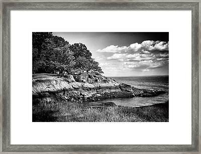 Seaside Cliffs Framed Print by Jessica Jenney