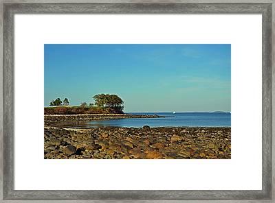 Seaside Framed Print by Corinne Rhode