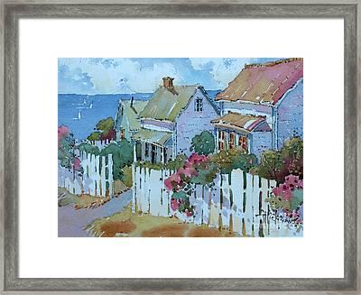 Seaside Cottages Framed Print