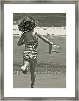 Seaside Excitement Framed Print by JAMART Photography