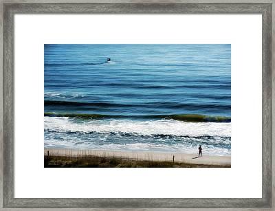 Seaside Fisherman Framed Print