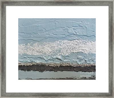 Seaside Foam Framed Print