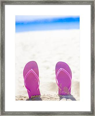 Seaside Holiday Concept With Copyspace Framed Print by Jorgo Photography - Wall Art Gallery