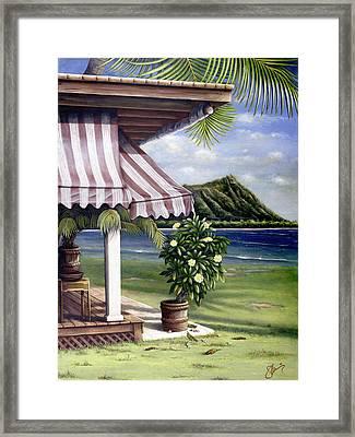 Seaside Hotel Framed Print by Sandra Blazel - Printscapes