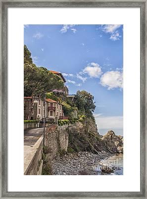 Seaside Houses In Italy Framed Print