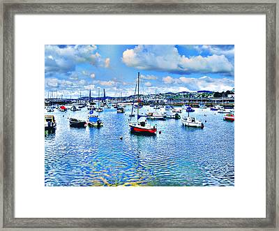 Seaside In Blur Framed Print by Roberto Alamino