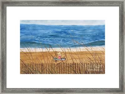 Seaside In Massachusetts Framed Print