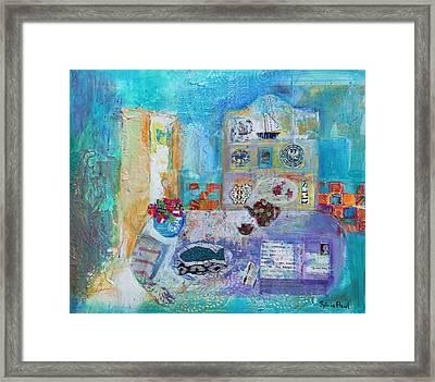 Seaside Kitchen Framed Print