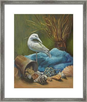 Seaside Memories Framed Print by Vicky Gooch