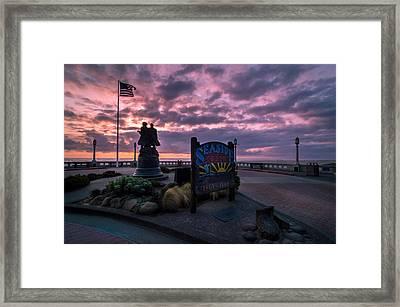 Seaside Oregon Sunset Framed Print