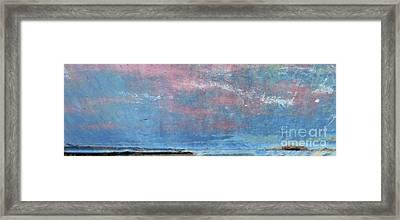Seaside Panorama Framed Print