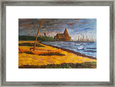 Seaside Park Nj Yacht Club Framed Print by Joann Renner