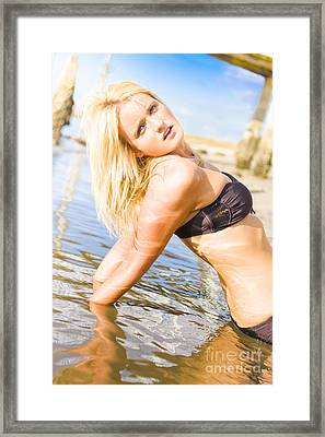 Seaside Passion Framed Print by Jorgo Photography - Wall Art Gallery