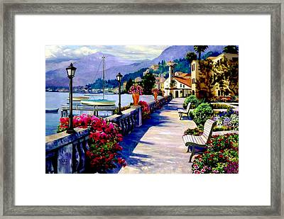 Seaside Pathway Framed Print