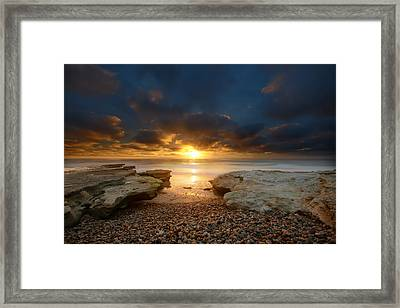Seaside Reef Sunset 9 Framed Print by Larry Marshall