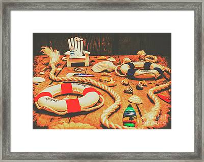 Seaside Ropes And Nautical Decks Framed Print by Jorgo Photography - Wall Art Gallery