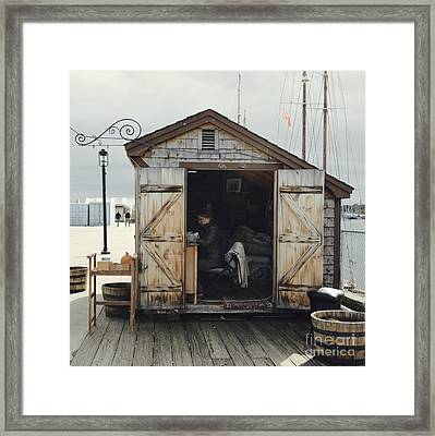 Seaside Shack - Portland, Maine Framed Print