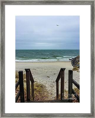 Seaside Steps Framed Print