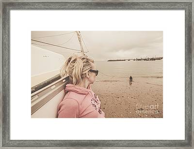 Seaside Stopover Framed Print by Jorgo Photography - Wall Art Gallery