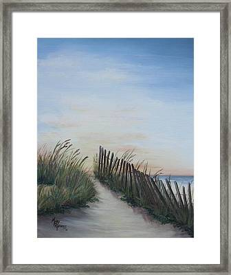 Seaside Sunrise Framed Print by Mary Rogers