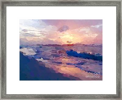 Seaside Swirl Framed Print