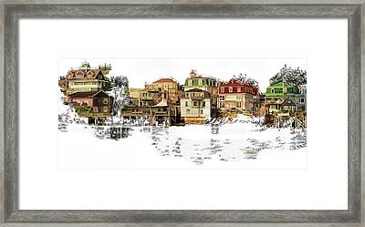 Seaside Village Framed Print