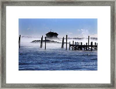 Seasmoke At Clingstone House Framed Print