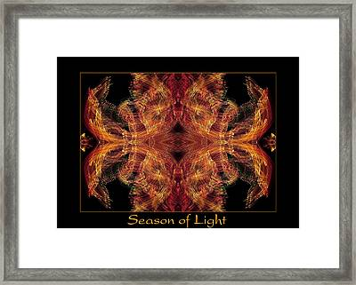 Framed Print featuring the photograph Season Of Light 2 by Bell And Todd