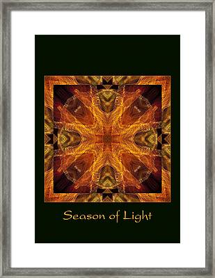 Framed Print featuring the photograph Season Of Light 4 by Bell And Todd
