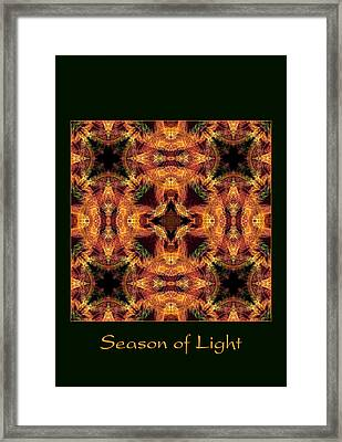 Framed Print featuring the photograph Season Of Light 5 by Bell And Todd