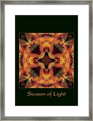 Framed Print featuring the photograph Season Of Light 6 by Bell And Todd