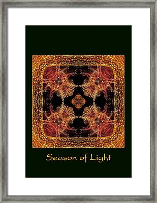 Framed Print featuring the photograph Season Of Light 7 by Bell And Todd