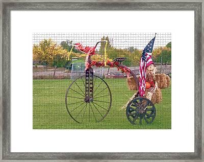 Seasonal Antique Tricycle 1 Framed Print by Steve Ohlsen