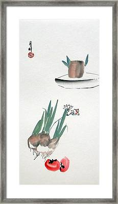 Seasonal Flowers Framed Print by Ming Yeung