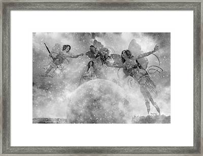 Seasons Bw Framed Print by Betsy Knapp