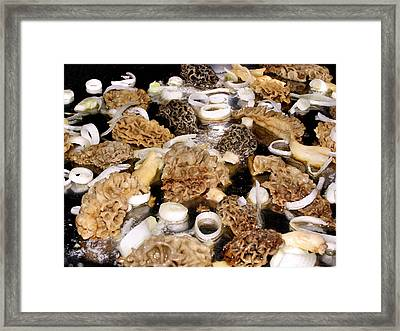 Season's First - Morel Mushrooms Framed Print
