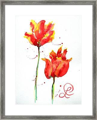 Season's First Tulips Framed Print