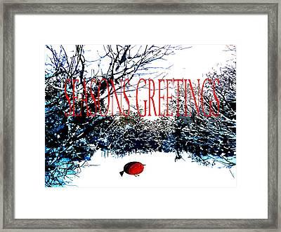 Seasons Greetings 1 Framed Print by Patrick J Murphy