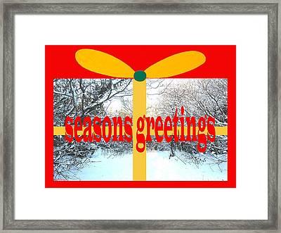 Seasons Greetings 22 Framed Print by Patrick J Murphy