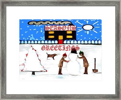 Seasons Greetings 69 Framed Print by Patrick J Murphy