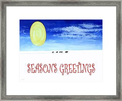 Seasons Greetings 91 Framed Print by Patrick J Murphy