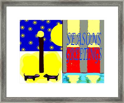 Seasons Greetings 92 Framed Print by Patrick J Murphy