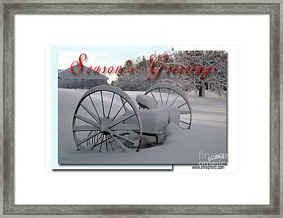 Framed Print featuring the photograph Seasons Greetings by Alana Ranney
