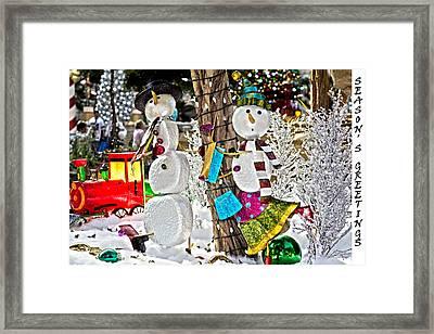 Seasons Greetings Framed Print by Douglas Barnard