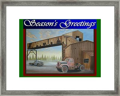 Season's Greetings Old Mine Framed Print by Stuart Swartz