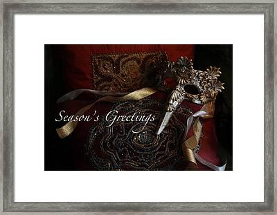 Season's Greetings Framed Print by Yvonne Wright