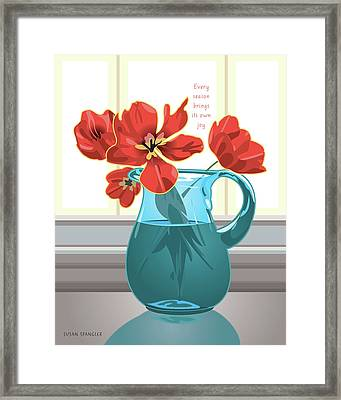 Season's Joy Framed Print by Susan Spangler