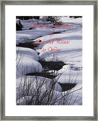 Seasons Of Joy And Peace Framed Print