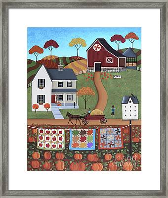 Seasons Of Rural Life - Fall Framed Print by Mary Charles